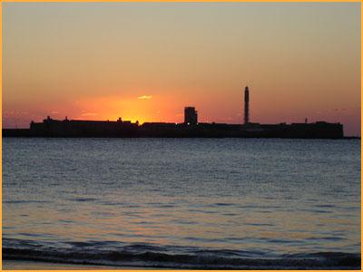 Puesta de sol en Cádiz